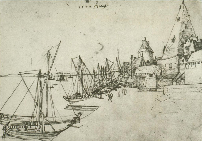 Albrecht Durer, The Port of Antwerp, 1520