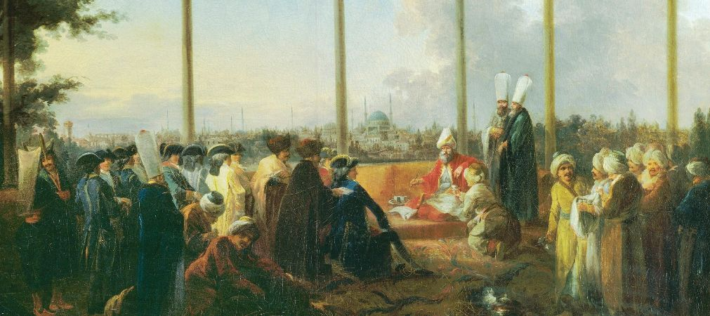 An Audience In Istanbul By The Grand Vizier for Francois Emmanuel Guignard