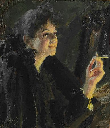 Anders Zorn, The Cigarette Girl, 1907