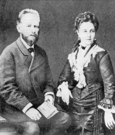 Caykovski ve esi Antonina Milyukova