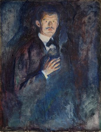 Edvard Munch, Self-Portrait With Cigarette, 1895