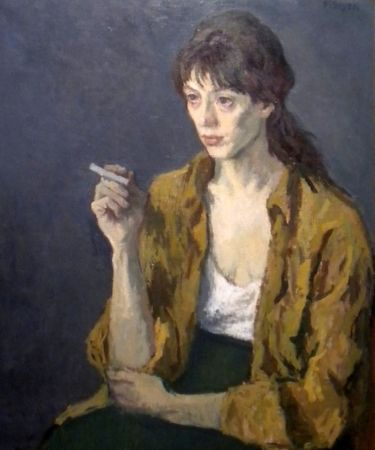 Elizabeth Nourse, Woman With Cigarette