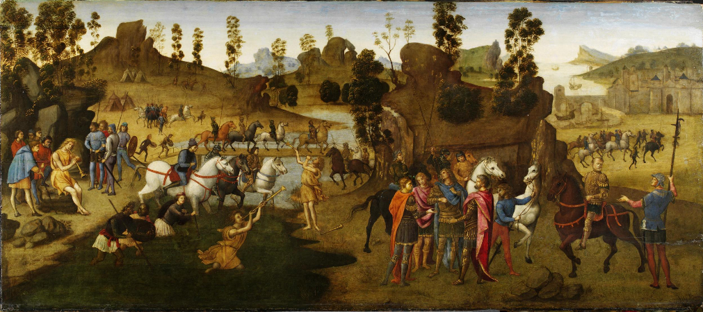 Francesco Granacci, Julius Caesar and the Crossing of the Rubicon, 1493-94
