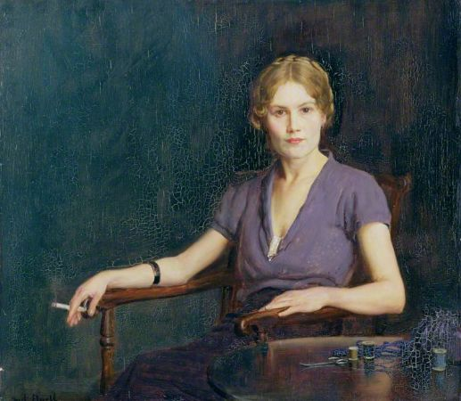 Frederick William Elwell, Girl With Cigarette