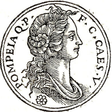 Guillaume Rouille, Pompeia, Second Wife of Julius Caesar, 1553