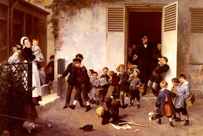 Henry Jules Jean Geoffroy, Class Is Over, 1879