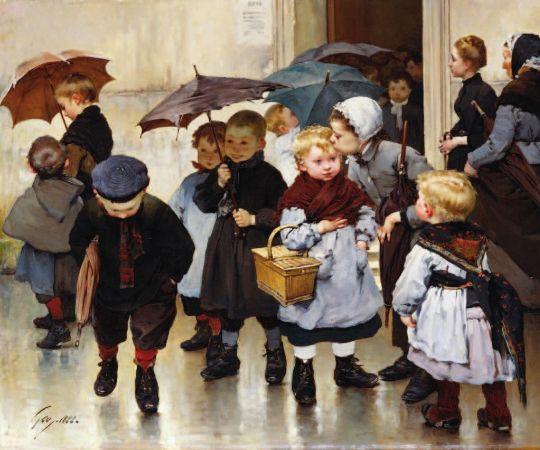 Henry Jules Jean Geoffroy, Leaving The Class, 1888