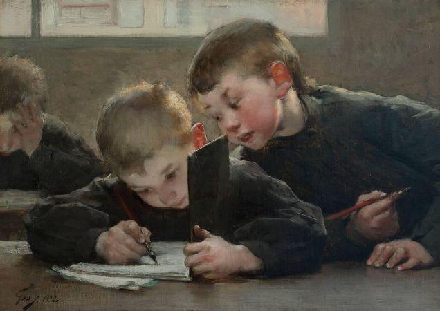 Henry Jules Jean Geoffroy, School Days, 1893