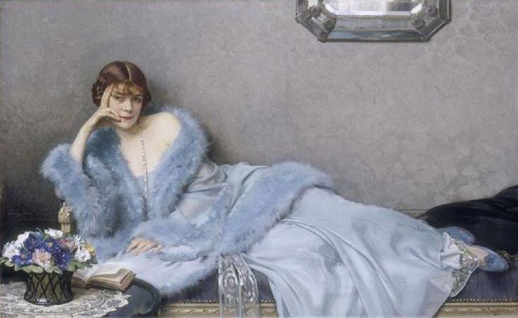 Hubert Denis Etcheverry, Le dame en bleu, 1930