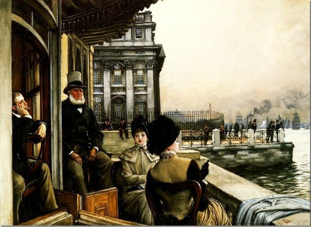 James Tissot, The Terrace Of The Trafalgar Tavern Greenwich, 1878