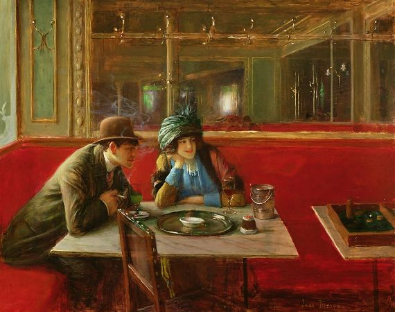 Jean Beraud, At The Cafe, 1908