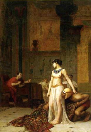 Jean Leon Gerome, Cleopatra Before Caesar, 1866