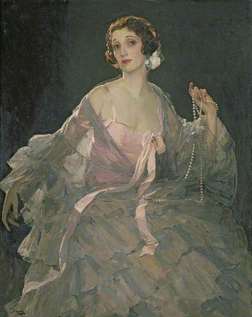 John Lavery, Portrait of Hazel Lavery, 1936