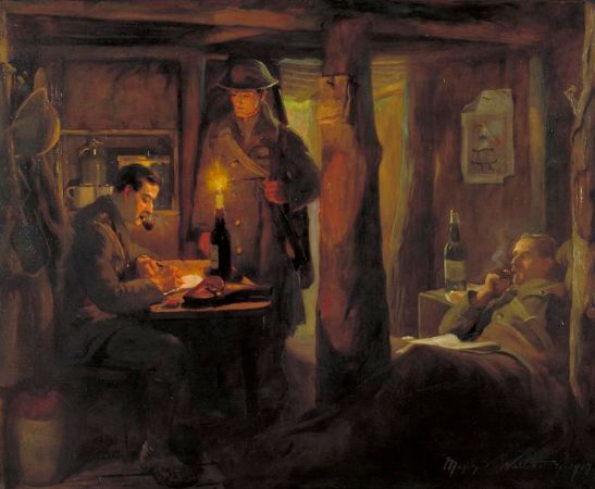 Marjory Watherson, The Dispatch (The Captain's Dugout), 1917