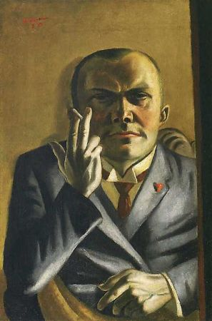 Max Beckmann, Self-Portrait with a Cigarette, 1923