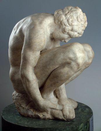 Michelangelo, Crouching Boy, 1530-34