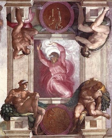 Michelangelo, Sistine Chapel (First Day Creation), 1508-1512