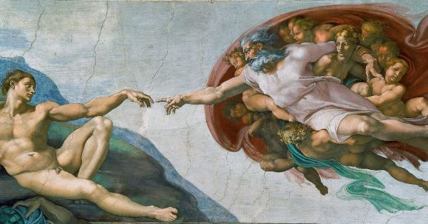 Michelangelo, Sistine Chapel (The Creation of Adam), 1508-1512