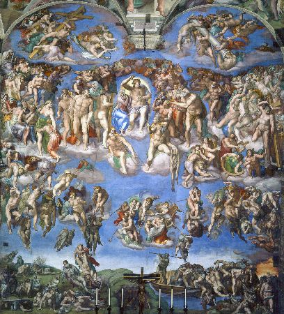 Michelangelo, Sistine Chapel (The Last Judgment), 1536-41