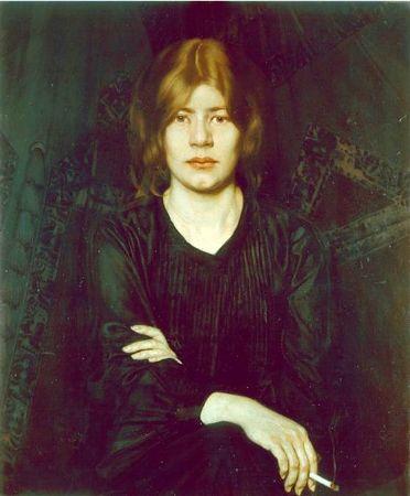 Oskar Zwintscher, Bildnis einer Dame mit Zigarette, 1904