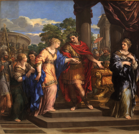 Pietro de Cortona, Caesar Giving Cleopatra The Throne of Egypt, 1637