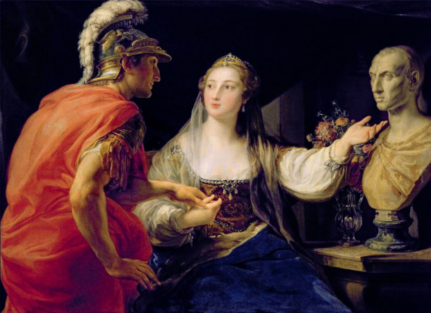 Pompeo Batoni, Cleopatra Showing Octavius The Bust of Julius Caesar
