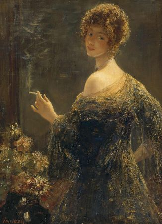 Simon Maris, Lady With Cigarette