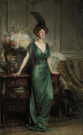 Sir Francis Bernard Dicksee, Portrait of the Hon. Mrs Ernest Guinness, 1912