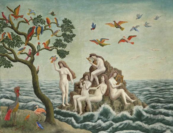 André Bouchant, Sirens Charming Birds, 1943