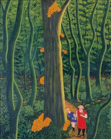 Camille Bombois, Sous Bois, L'arbre Aux Champignons, 1930-35