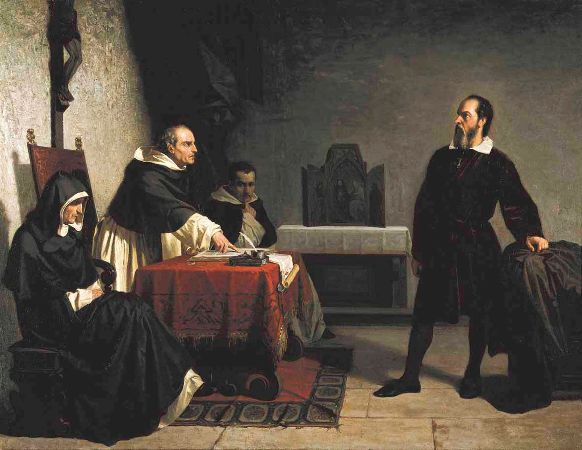 Cristiano Banti, Galileo Facing The Vatican Inquisition, 1857
