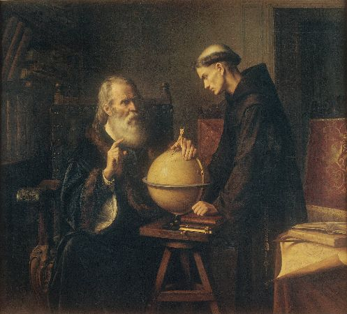 Felix Parra, Galileo Demonstrating The New Astronomical Theories At The University of Padua, 1873