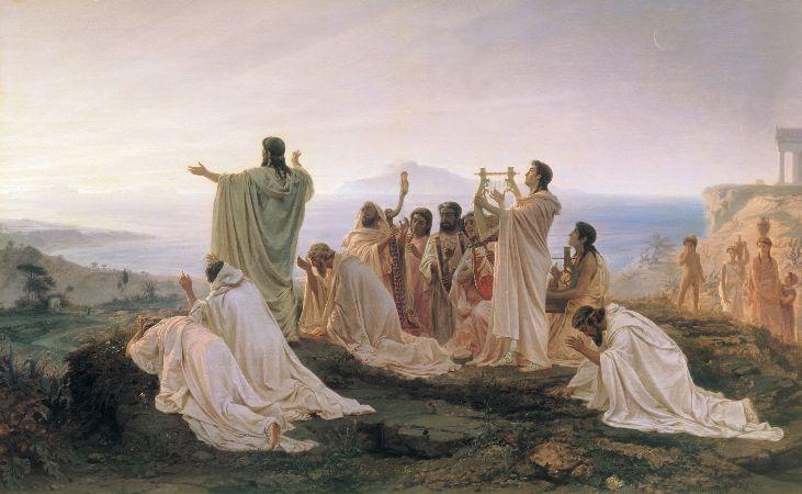 Fyodor Bronnikov, Pythagoreans Celebrate Sunrise, 1869