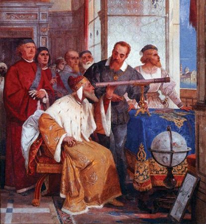 Giuseppe Bertini, Bertini Fresco of Galileo Galilei and Doge of Venice