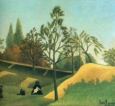 Henri Rousseau, View of the Fortifications, 1896