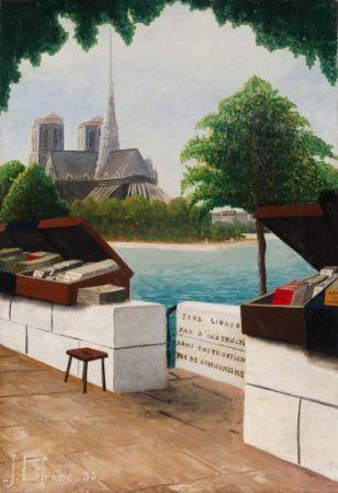 Jules Lefranc, Les bouquinistes devant Notre Dame, 1935