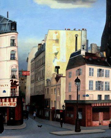 René Rimbert, La rue du Dragon à Paris, 1930