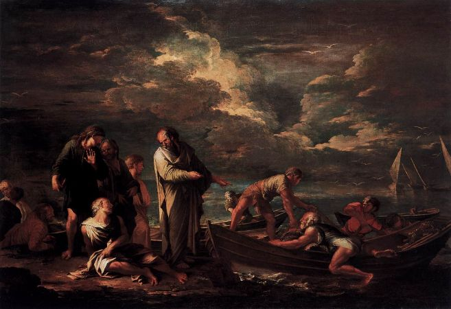 Salvator Rosa, Pythagoras and The Fisherman, 1662