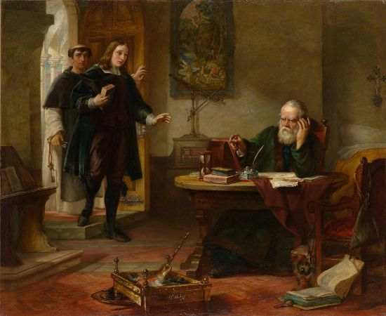 Solomon Alexander Hart, Milton Visiting Galileo When A Prisoner Of The Inquisition, 1847