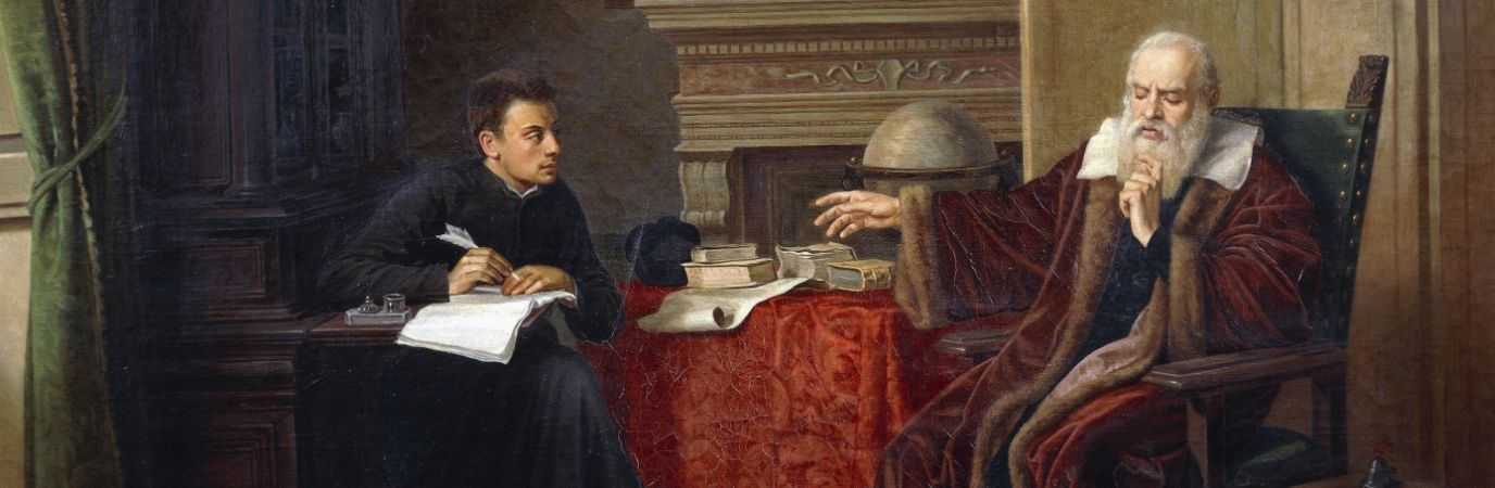 Vincenzo Cantagalli, Galileo Galilei Dictating His Observations To His Secretary In Arcetri