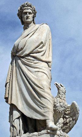 Dante Alighieri, L'Italia, Santa Croce Square, Enrico Pazzi, 1865