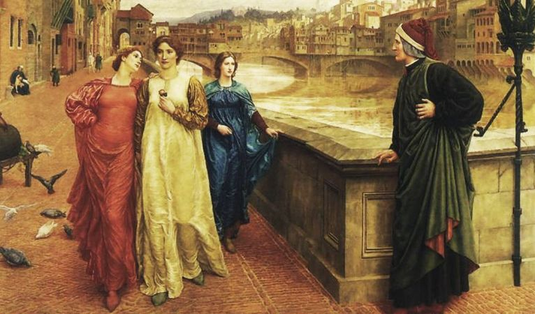 Dante Meets Beatrice At Ponte Santa Trinita, Henry Holiday