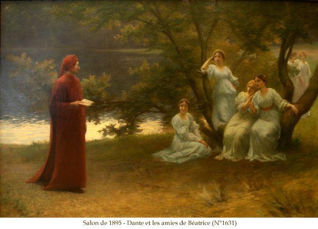 Dante et les amies de Béatrice, Marcel Rieder, 1895