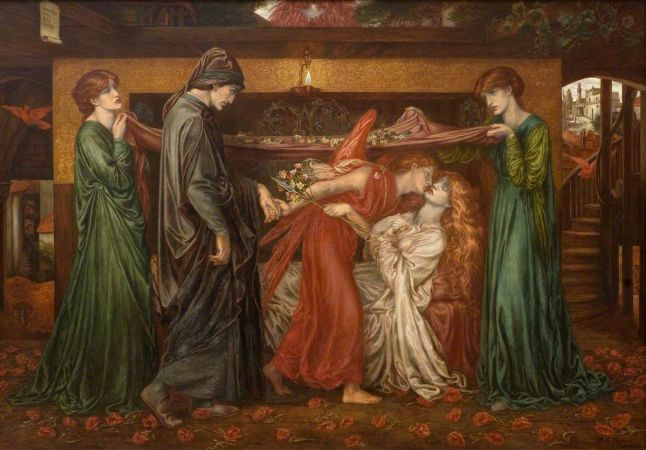 Dante's Dream At The Time of the Death of Beatrice, Dante Gabriel Rossetti, 1871