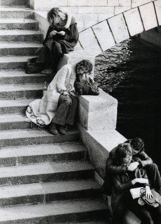 Izis Bidermanas, Pont Saint-Michel, Paris, 1975