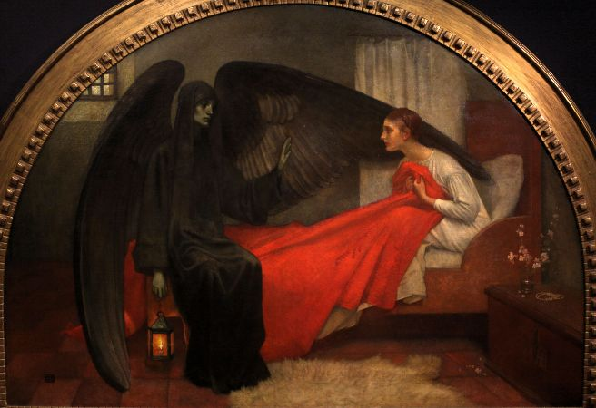 Marianne Stokes, Death and The Maiden, 1896