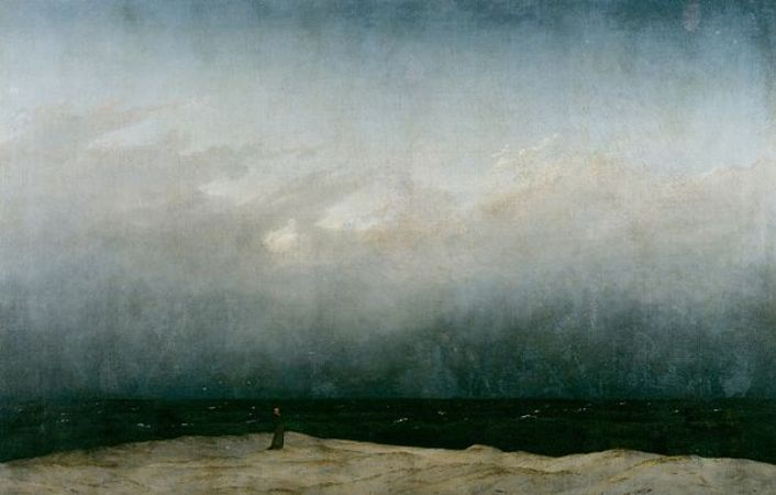 Caspar David Friedrich, Monk By The Sea, 1809-10