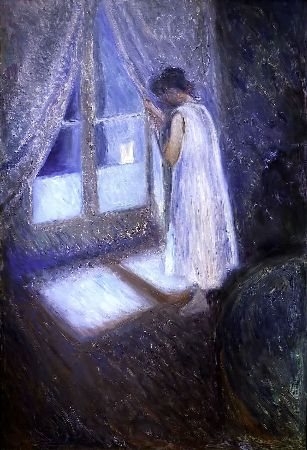 Edvard Munch, Girl Looking Out The Window, 1892