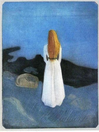 Edvard Munch, Girl On The Beach, 1896