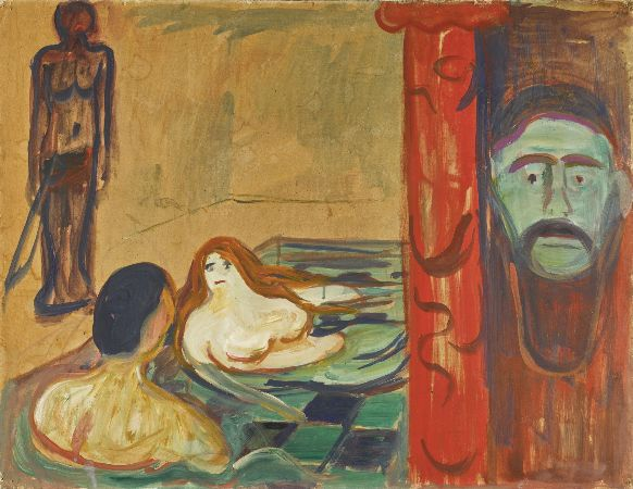 Edvard Munch, Jealousy In The Bath, 1898